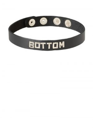 Wordband Collar Bottom Black
