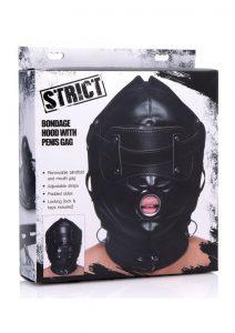 Strict Bondage Hood W/penis Gag Masks Bondage and Fetish