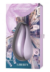 Womanizer Liberty Silicone USB Rechargeable Clitoral Stimulator Waterproof Lilac 4.09 Inch