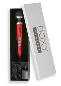 Doxy Number 3 Candy Red Multi Speed Massager Vibrating