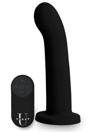 Strap U Secret G Dildo W/ Remote Control Silicone Waterproof USB Rechargeable Black