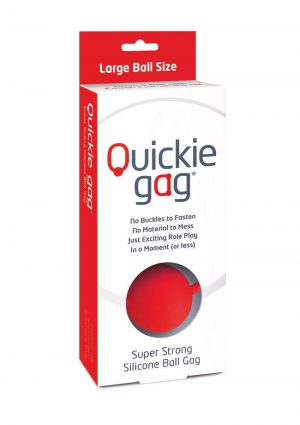 Quickie Gag Silicone Ball Gag Bondage Red