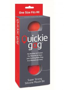 Quickie Gag Silicone Mouth Bit Red