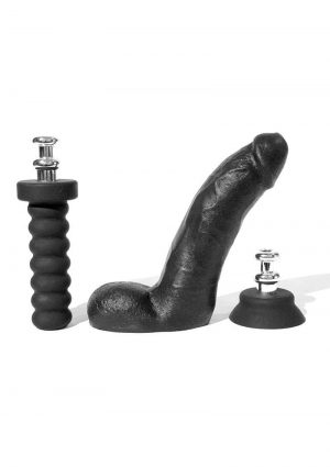 Boneyard Cock  8 Inches Dildo With Silicone Handle or Suction Cup  Base Attachment Black