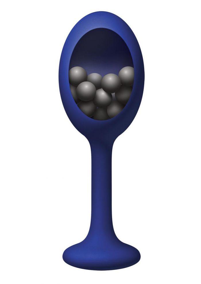 Renegade Rattler Blue Anal Plug Silicone Non Vibrating