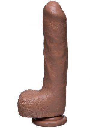 The D Uncut D W/balls Firmskyn 9 inch Dildo Non Vibrating