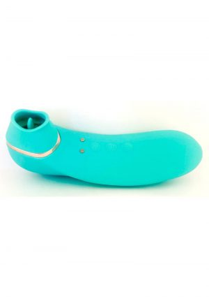 Sensuelle Trinitii Suction Tongue Vibrator Rechargeable Multi Speed Electric Blue