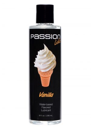 Passion Licks Flavor Lube Vanilla 8oz