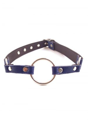 Rouge O Ring Gag Leather Buckle Strap Blue