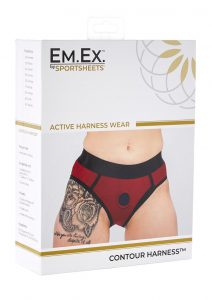 EM. EX. Active Harness Wear Contour Harness Briefs Red Extra Large-31-34