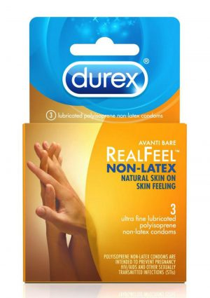 Durex Avanti Real Feel Non Latex Lubricated Condoms 3-Pack