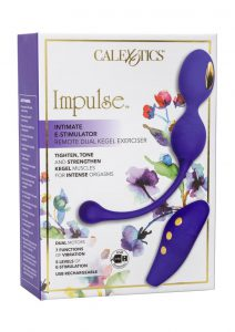 Impulse Intimate E-stimulator Wireless Remote Silicone Dual Kegel Exerciser USB Rechargeable Werproof Purple 4 Inches