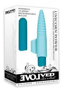Unicorn Power Powerful Rechargeable Bullet Waterproof Blue