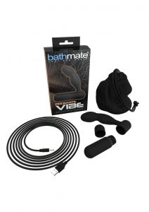 Bathmate Prostate Vibe Prostate and Perineum Massager Silicone USB Rechargeable  Dual Stimulation Black