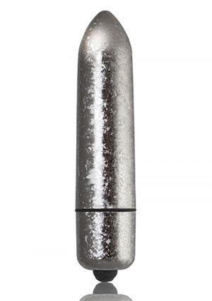 Rocks-Off 120mm Frosted Fleurs Multi Function Bullet Waterproof Silver