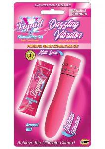 Liquid V Dazzling Vibrator Kit Pink