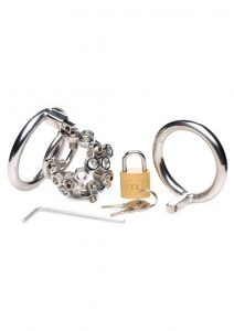 Ms Bolted Chastity Cage W/spikes