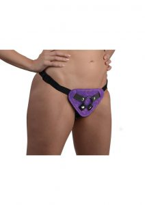 Strap U Corset Harness Purple
