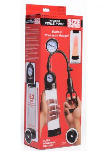 Size Matters Trigger Penis Pump With Built-in Pressure Gauge