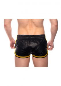 Prowler Red Leather Sport Shorts Yell Sm