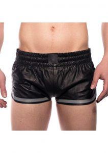 Prowler Red Leather Sport Shorts Gryxxxl