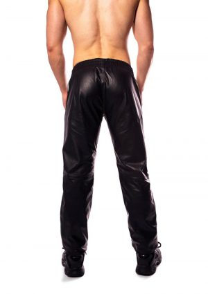 Prowler Red Leather Joggers Wht Lg