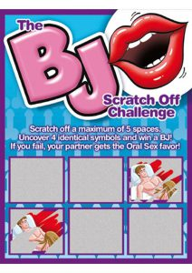 Bj Scratch Off Challenge Game Ticket