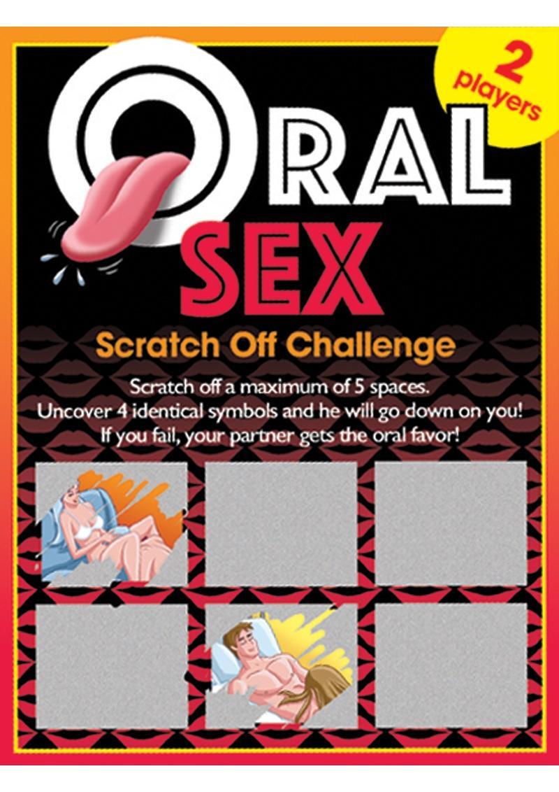 Oral Sex Scratch Off Challenge Game Ticket