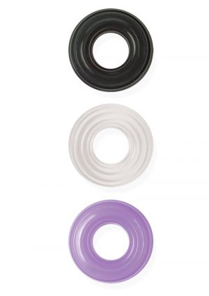 Commander My Best Cock Swellers Silicone Englargement Cockring Waterproof 3 Assorted Colors Per Box
