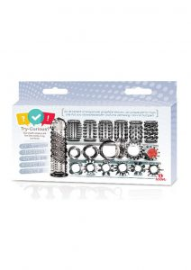 Try-Curious C-Ring And C-Sleeve Starter Kit Smoke 15 Pieces