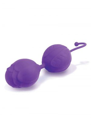 S-Kegels Silicone Textured Kegel Trainers With Internal Balls Purple