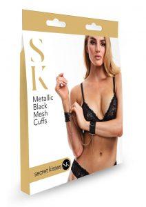 Sk Metallic Black Mesh Cuffs