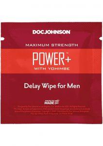Power W/yohimbe Delay Wipe 10ct Pk