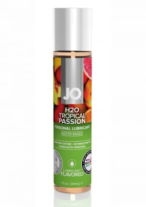 Jo H2O Water Based Flavored Lubricant Tropical Passion 1 Ounce
