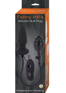 Fanny Hills Silicone Butt Plug Inflatable and Vibrating Black
