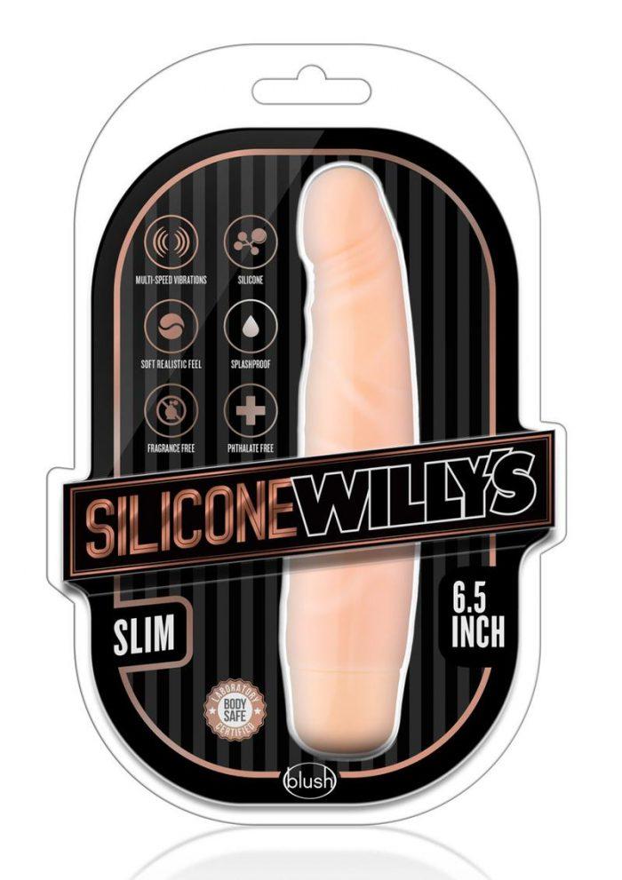 Silicone Willy`s Slim Vibrating Dildo 6.5in - Vanilla