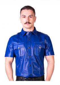 Prowler Red Slim Police Shirt Blu Lg