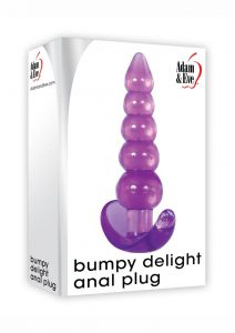 Adam and Eve Bumpy Delight Anal Plug - Purple