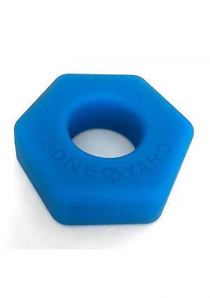 Bone Yard Bust A Nut Silicone Cock Ring Ball Stretcher Blue