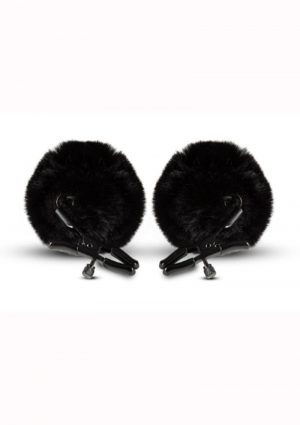 Noir Pom Adjustable Nipple Clamps - Black