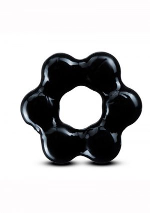 Stay Hard Thick Bead Cock Ring - Black