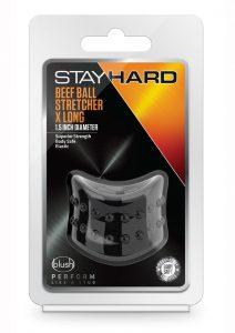 Stay Hard Beef Ball Stretcher - Black