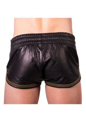 Prowler Red Leather Sport Shorts Grn Sm