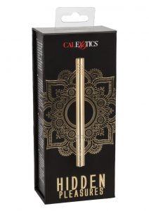 Hidden Pleasures Discreet Slim Massager USB Rechargeable Gold 4.25 Inches