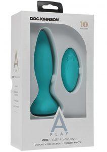 A-play Vibe Advent Plug W/remote Teal