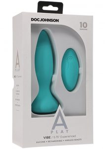 A-play Vibe Exper Plug W/remote Teal