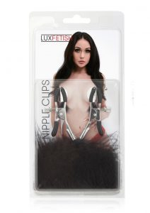Lux F Feather Nipple Clamps - Black