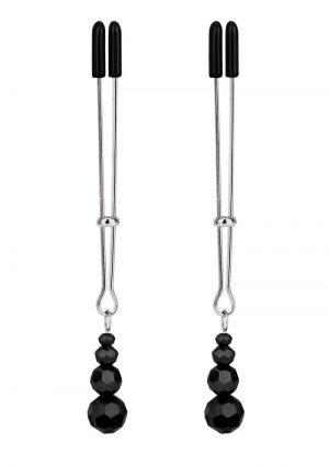 Lux F Adjustable Tweezer Nipple Clips - Black