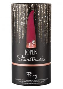 Starstruck Fling Rechargeable Silicone Flickering Vibrator - Red