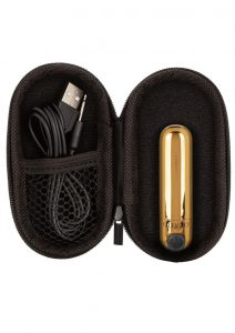 Recharge Hideaway Rechargeable Bullet Vibrator - Gold